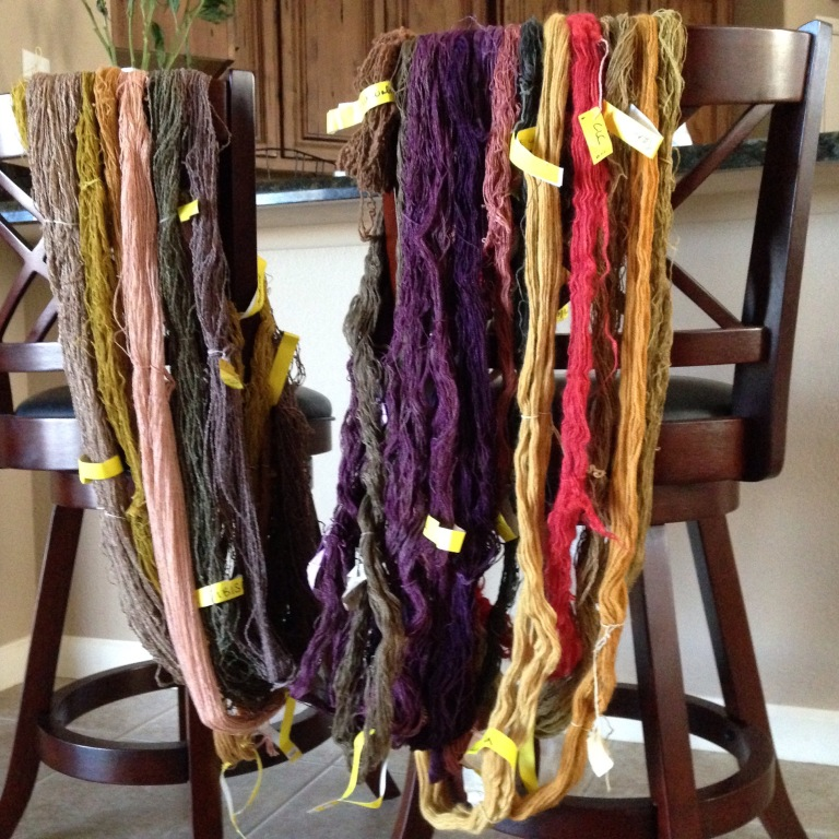 Hand-dyed skeins