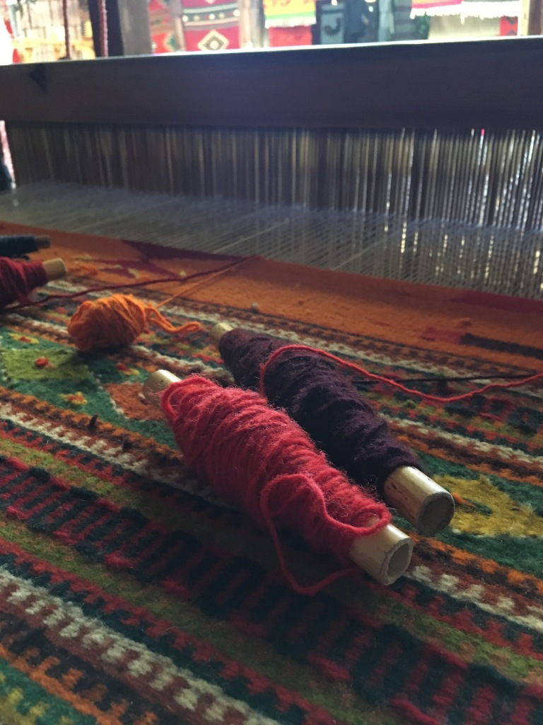 8 - An in-progress weaving at a weave-house