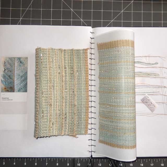 Instagram-Page-Drops-on-Leaf-Tactile-Notebook-The-Weaving-Workshop