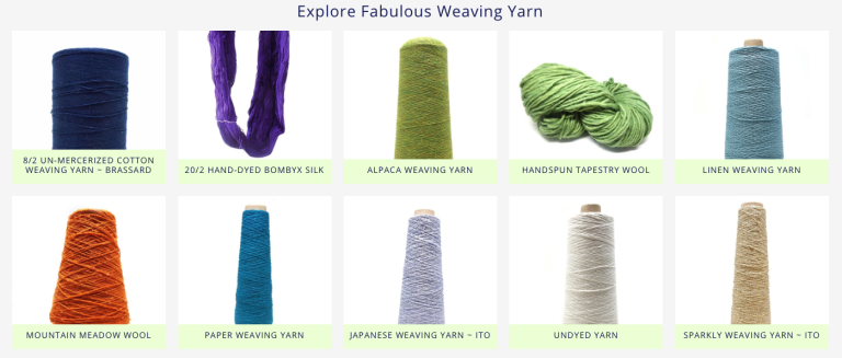 Explore Fabulous Weaving Yarn from Gist
