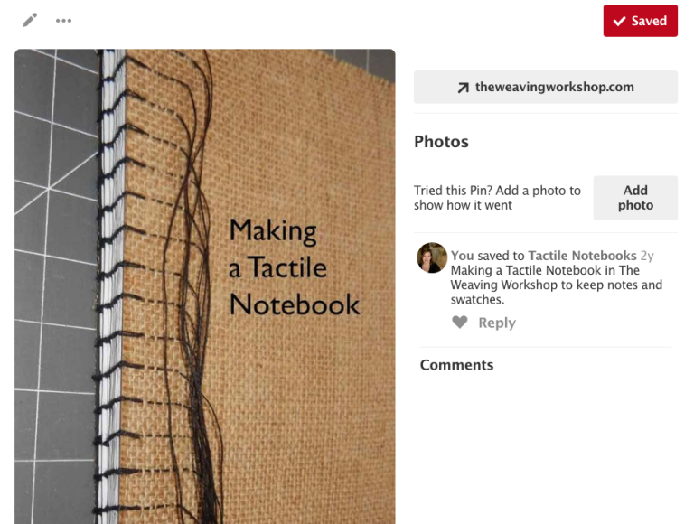 Making a Tactile Notebook