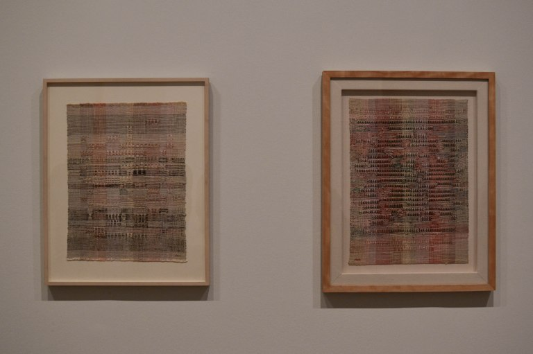 13- Anni Albers- Development in Rose I and Development in Rose II (1952)