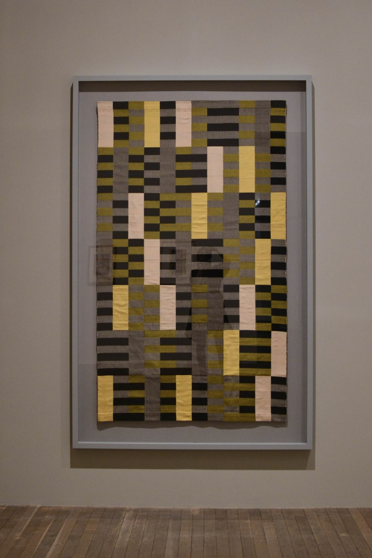 5- Anni Albers - Black White Yellow (1926- re-woven 1965)