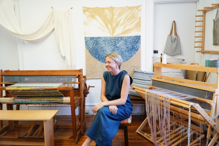 Kate Wilt in her studio
