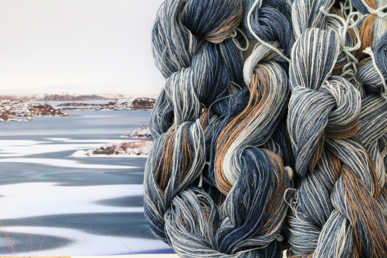 Julia Hodgson Process - the first sample warp for 'shelter for the storm_